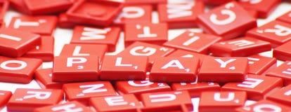 与纵横填字谜的戏剧词 免版税库存图片