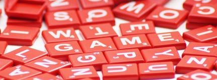 与纵横填字谜的比赛词 免版税图库摄影