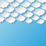 与纸云彩的抽象背景 库存图片