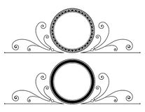 与纸卷的圆框架设计 向量例证
