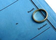 与纸张离婚 免版税库存照片