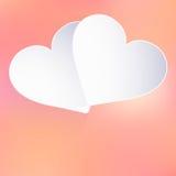 与纸心脏形状的情人节。EPS 10 库存照片