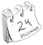 与纸板料和金属圆环的日历 免版税库存照片