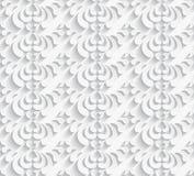 与纸漩涡的白色无缝的样式 免版税图库摄影