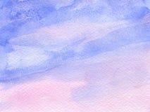 与纸纹理的水彩背景 免版税库存照片
