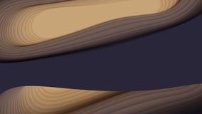 与纸被削减的形状的传染媒介3D抽象背景 五颜六色的雕刻的艺术 纸工艺羚羊峡谷风景与 库存例证