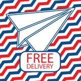 与纸飞机的自由交付象 免版税图库摄影