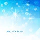 与纹理三角的蓝色圣诞节背景 库存例证