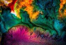 与纹理的抽象液体绘画 免版税库存照片