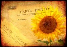 与纹理老纸和葡萄酒明信片的难看的东西背景 免版税库存照片