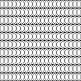 与线和圆点的无缝的黑白装饰背景 库存例证