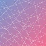 与线和小点的抽象背景 向量例证