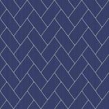 与线和长方形的传统日本刺绣装饰品 库存照片