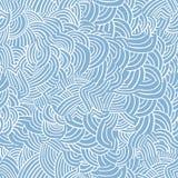 与线性波浪的无缝的样式 手拉的图表例证 库存图片
