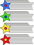 与线的商标星-传染媒介 免版税库存照片