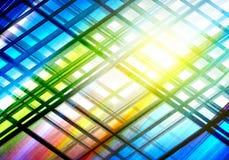 与线的抽象五颜六色的难看的东西背景 免版税库存照片