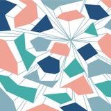 与线的未来蓝色抽象五颜六色的背景 免版税图库摄影
