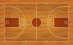 与线的篮球场地板在木纹理背景 也corel凹道例证向量 向量例证
