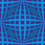 与线的蓝色无缝的简单的几何背景 库存例证