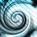 与线的蓝色辐形漩涡 库存照片