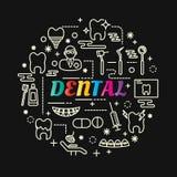 与线被设置的象的牙齿五颜六色的梯度 免版税库存图片