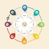 与线设计模板的现代infographic横幅 向量 库存图片