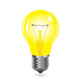 与细丝的电灯泡 库存例证