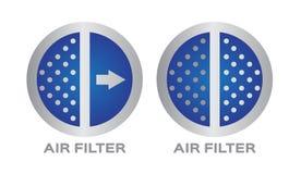 与细菌和尘土象的空气过滤器 库存例证