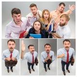 与经理的工作面试在办公室 概念选择最佳的候选人 免版税库存照片