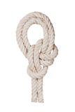 与结的绳索 库存照片
