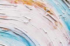 与绘画的技巧的抽象绘画细节纹理背景 免版税库存照片