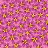 与绯红色花的无缝的纹理 免版税库存图片