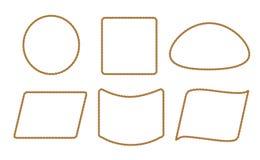 与绳索的无缝的样式 库存例证