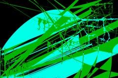 与绿松石和绿色的抽象元素的样式 库存例证