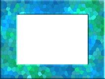 与绿松石照片框架的树荫的抽象蓝绿色 库存例证