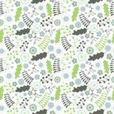 与绿松石的花卉样式在白色背景开花 免版税库存图片