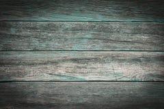 与绿松石细节的土气木背景 免版税库存图片