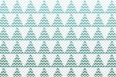 与绿色三角、之字形和小小点的圣诞树样式 向量例证