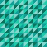 与绿色三角的无缝的传染媒介样式 库存例证