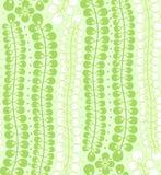 与绿色叶子的无缝的模式 免版税库存照片