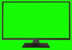 与绿色屏幕的电视 免版税库存图片
