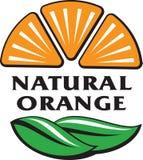 与绿色的橙色果子切片离开作为自然橙汁集成电路 免版税图库摄影
