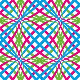 与绿色,蓝色和桃红色线的抽象无缝的样式 库存例证