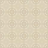 与缎纹刺绣针迹刺绣的无缝的背景 传统的装饰品 土气样式 向量例证