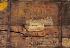 与编号和文本的葡萄酒木框 免版税库存图片