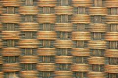 与编织的藤条的背景 免版税库存图片
