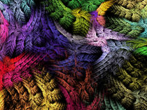 与编织的作用的多彩多姿的抽象背景 向量例证