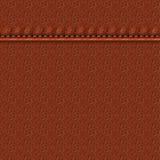 与缝的皮革 库存例证