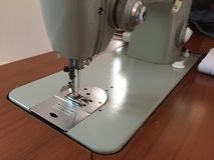 与缝纫机一起使用 库存图片