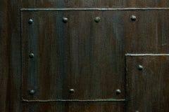 与缝水平的纹理的金属背景 库存图片